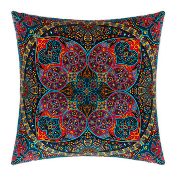Arora Velvet Pillow - 60x60cm - Black