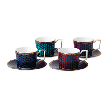 Byzance Teacup & Saucer - Set of 4