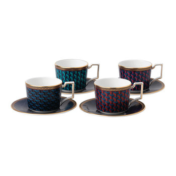 Byzance Espresso Cup & Saucer - Set of 4