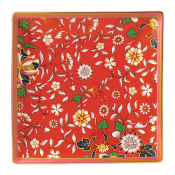 Wonderlust Square Tray - Crimson Jewel