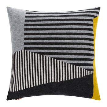 Line Cushion - 45x45cm - Grey & Black