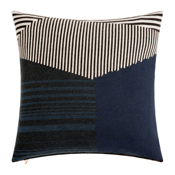 Line Cushion - 60x60cm - Blue & Black
