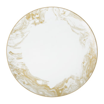 Gunnison Porcelain Dinner Plate - Gold