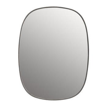 Small Framed Mirror - Grey/Clear