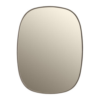 Small Framed Mirror - Taupe