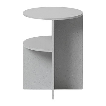 Muuto - Table d'Appoint Halves - Gris Clair