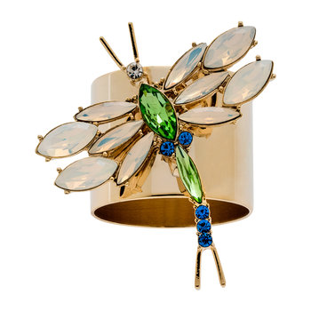 Dragonfly Napkin Ring - Set of 2 - Opal