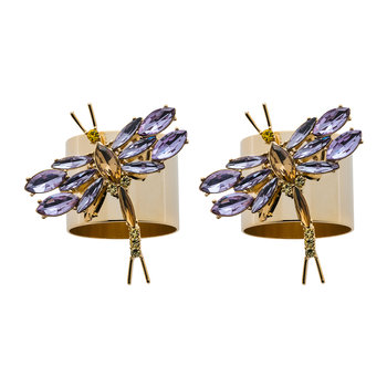 Dragonfly Napkin Ring - Set of 2 - Violet