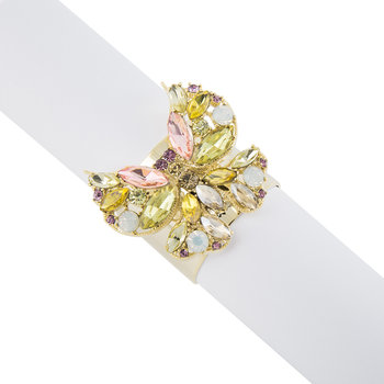 Jewelled Butterfly Napkin Ring - Set of 2 - Yellow