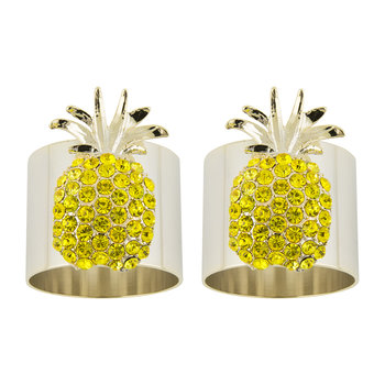 Pineapple Napkin Ring - Set of 2 - Yellow