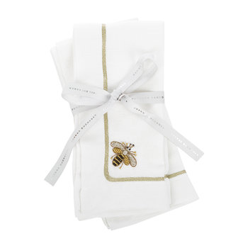 Bee Napkin - Set of 2 - White