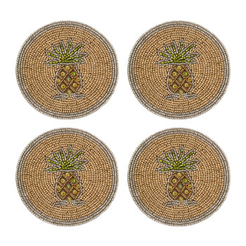 Set of 4 Coasters - Pineapple