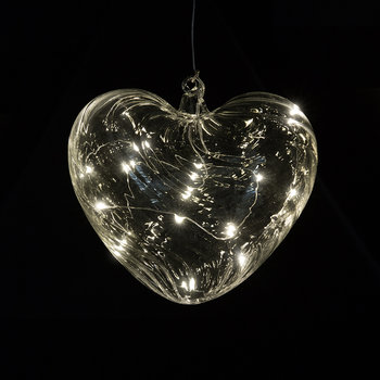 Wave Heart Hanging Light - Large