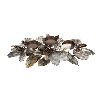 Silver & Brown Pinecone Votive Holder