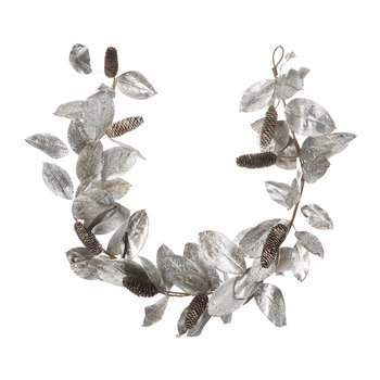 Silver Pinecone Garland - 180cm