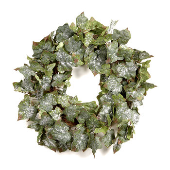 Icy Glitter Ivy Leaf Wreath