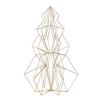 Wire Abstract Decorative Tree - Gold