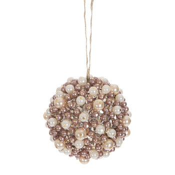 Pearl Cluster Christmas Tree Decoration - Pink