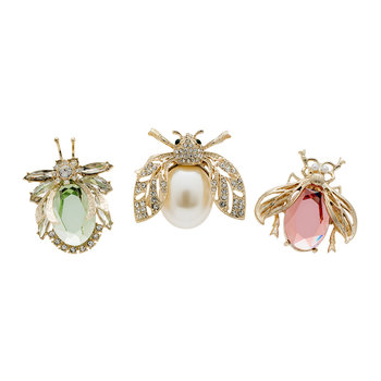 Pastel Classic Sparkle Bug Clips - Set of 3