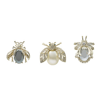Classic Sparkle Bug Clips - Set of 3