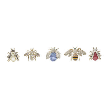 Classic Mini Bug Clips - Set of 5