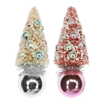 Pastel and Pearl Tree Decoration - Set of 2