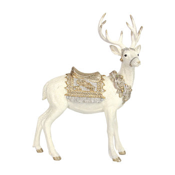 Standing Stag Ornament - Silver/Gold
