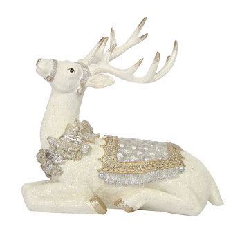 Stag Ornament - Silver/Gold - Sitting