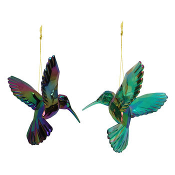 Humming Bird Tree Decorations - Set of 2