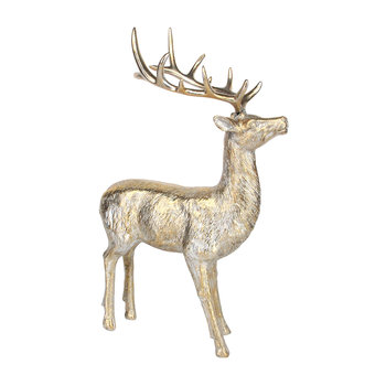 Antique Gold Stag Ornament