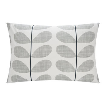 Scribble Stem Pillowcase - Light Concrete - Set of 2