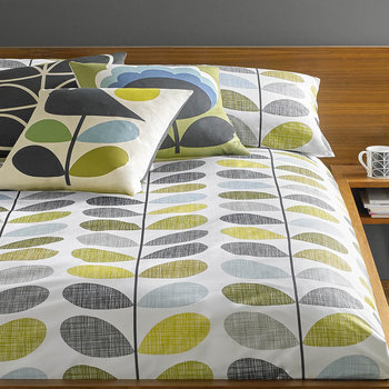 Scribble Stem Duvet Cover - Seagrass