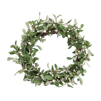 White Mistletoe Wreath