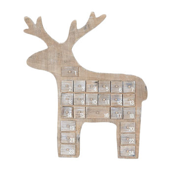 Wooden Reindeer Advent Calendar