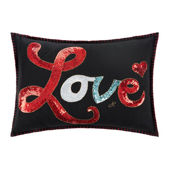 Glam Rock Pillow - Black - Love