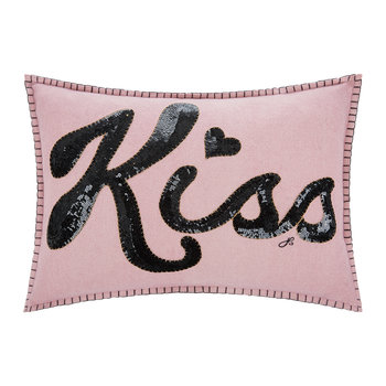Glam Rock Sequin Cushion - Kiss - Black