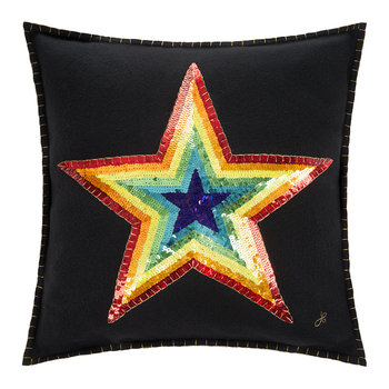 Glam Rock Rainbow Pillow - Star