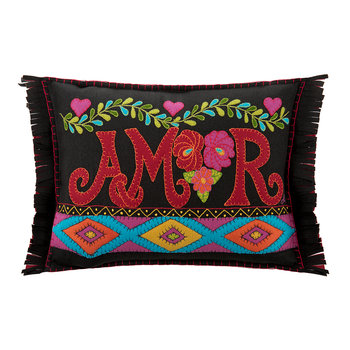 Fiesta Amor Pillow - Black