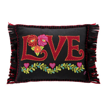 Fiesta Mini Love Cushion - Black