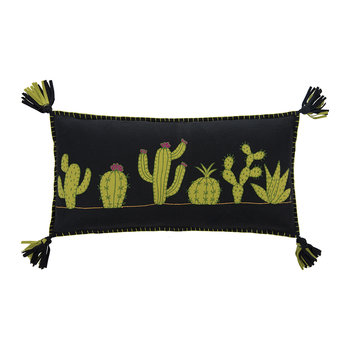Fiesta Cactus Cushion - Black