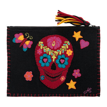 Fiesta Skull Clutch - Black
