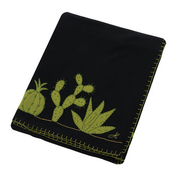 Fiesta Cactus Throw - Black