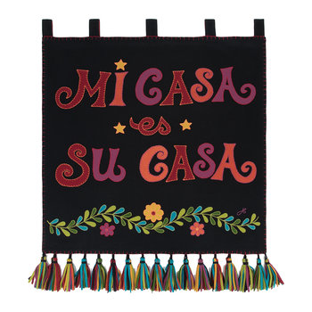 Fiesta Mi Casa Wall Hanging - Black