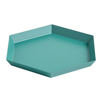 Kaleido Hexagon Tray - Small - Emerald Green