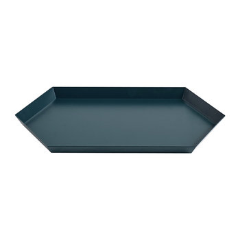 Kaleido Hexagon Tray - Medium - Dark Green
