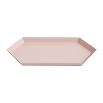 Kaleido Hexagon Tray - Medium - Peach