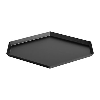 Kaleido Hexagon Tray - Large - Black