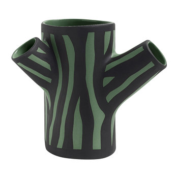 Tree Trunk Vase - Dark Green