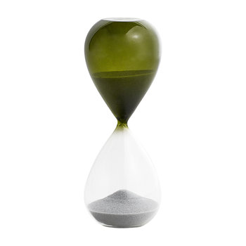 'Time' Hourglass - 15 Minutes - Grass Green