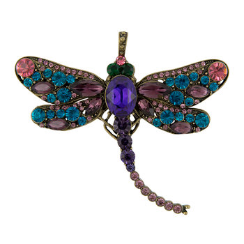 Dragonfly Christmas Tree Decoration - Amethyst/Teal